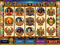 Throne Of Egypt pokieslots77.com Microgaming 1/5