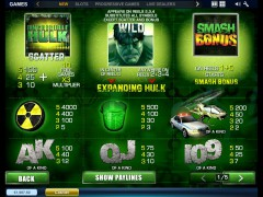 The Incredible Hulk pokieslots77.com Playtech 2/5