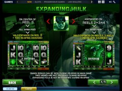 The Incredible Hulk pokieslots77.com Playtech 5/5