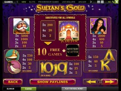 Sultan's Gold pokieslots77.com Playtech 2/5
