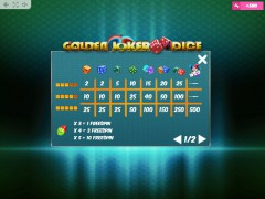 Golden Joker Dice pokieslots77.com MrSlotty 5/5